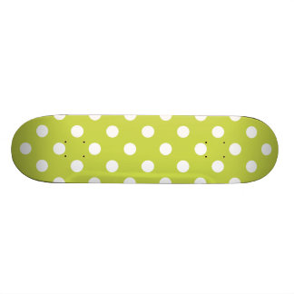 Green Polka Dot Pattern Skate Board