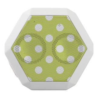 Green Polka Dot Pattern White Bluetooth Speaker