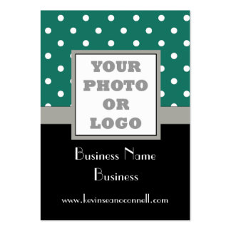 Green polka dot  photo logo pack of chubby business cards