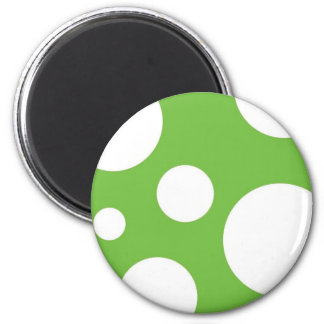 Green Polka Dots 6 Cm Round Magnet