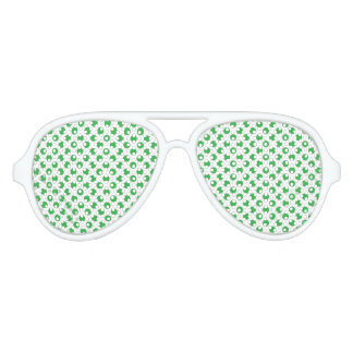 Green Polka Dots Aviator Sunglasses