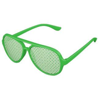 Green Polka Dots Aviator Sunglasses