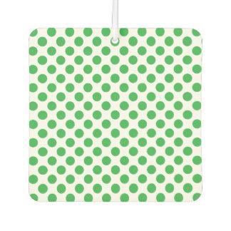 Green Polka Dots Car Air Freshener