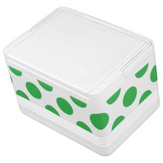 Green Polka Dots Cooler