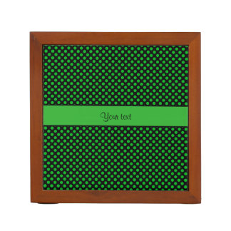 Green Polka Dots Desk Organiser