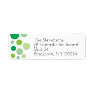 Green Polka Dots Family Return Address Return Address Label