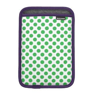 Green Polka Dots iPad Mini Sleeve