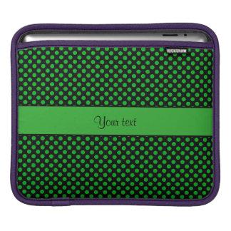 Green Polka Dots iPad Sleeve