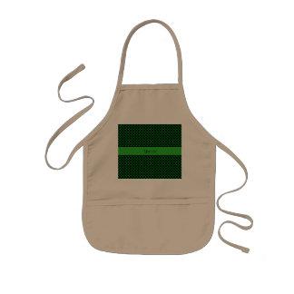 Green Polka Dots Kids Apron