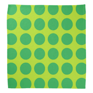 Green Polka Dots Lime Green Bandana