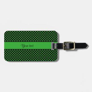 Green Polka Dots Luggage Tag