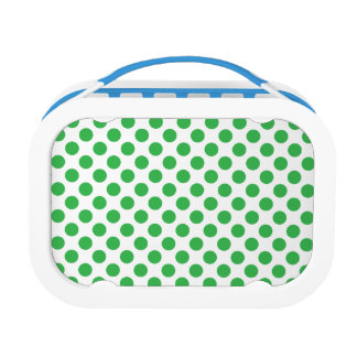 Green Polka Dots Lunch Boxes