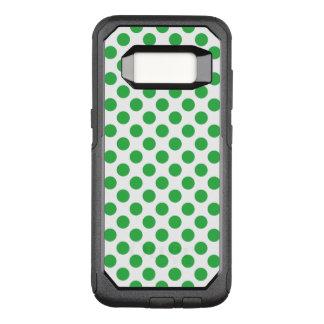 Green Polka Dots OtterBox Commuter Samsung Galaxy S8 Case