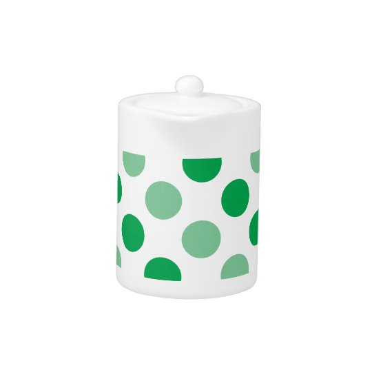 Green polka dots pattern