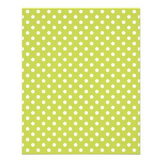 Green Polka Dots Pattern 11.5 Cm X 14 Cm Flyer