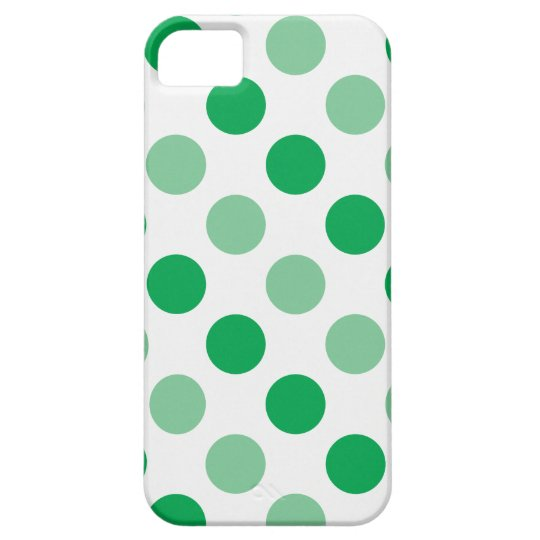 Green polka dots pattern case for the iPhone 5