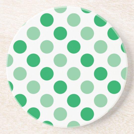 Green polka dots pattern coaster