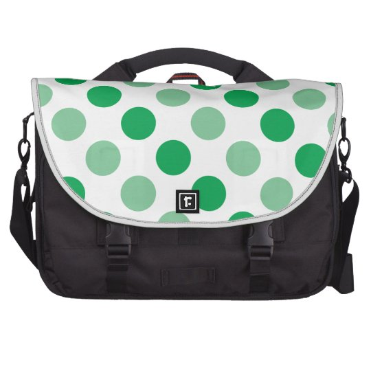 Green polka dots pattern commuter bag