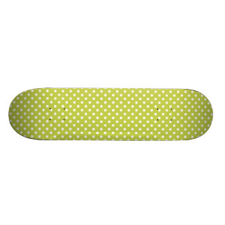 Green Polka Dots Pattern Custom Skate Board