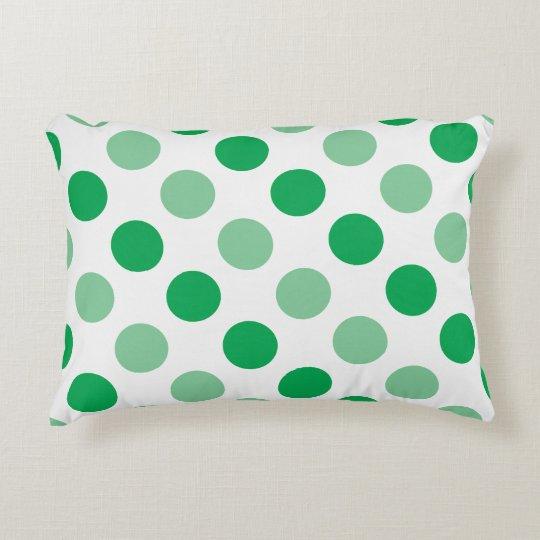 Green polka dots pattern decorative cushion