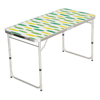 green polka dots pattern for party pong table