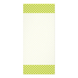 Green Polka Dots Pattern Full Color Rack Card