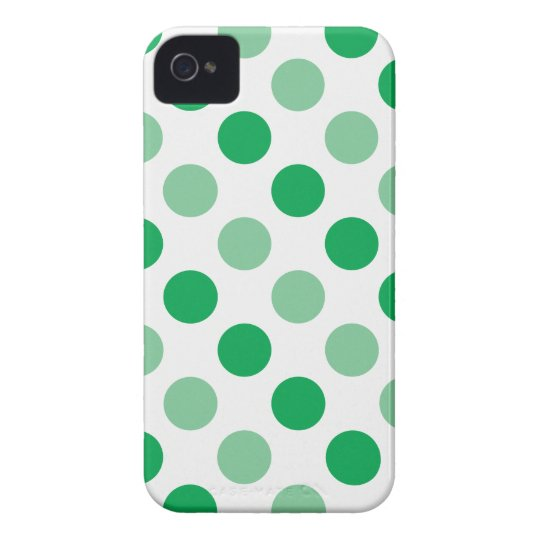 Green polka dots pattern iPhone 4 cover
