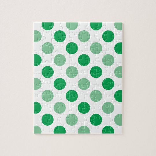 Green polka dots pattern jigsaw puzzle