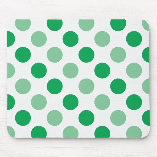 Green polka dots pattern mouse pad