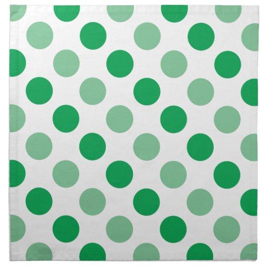 Green polka dots pattern napkin