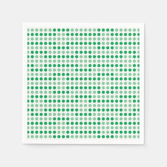 Green polka dots pattern paper napkins