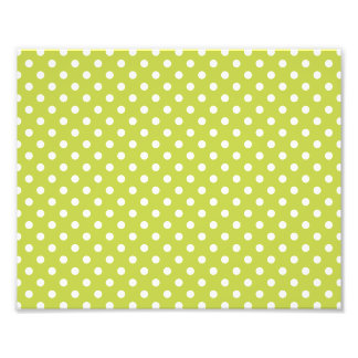 Green Polka Dots Pattern Photograph