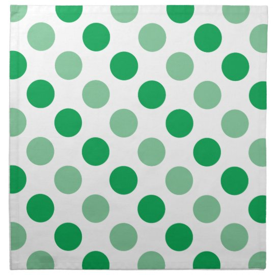Green polka dots pattern printed napkin