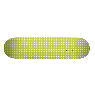 Green Polka Dots Pattern Skate Boards