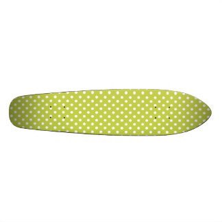 Green Polka Dots Pattern Skateboard