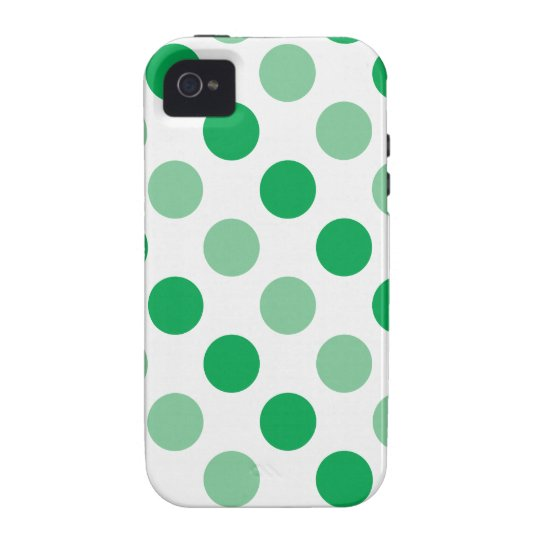 Green polka dots pattern vibe iPhone 4 cover