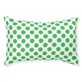 Green Polka Dots Pet Bed