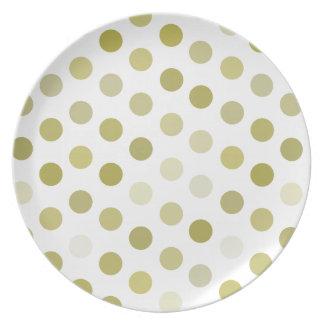 Green Polka Dots Dinner Plates