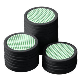 Green Polka Dots Poker Chips