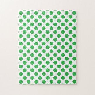 Green Polka Dots Puzzle