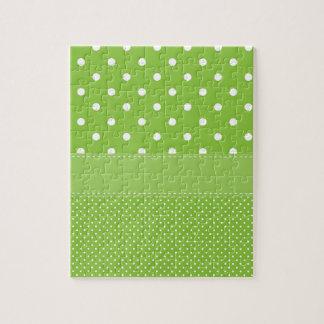 Green Polka-dots Puzzle