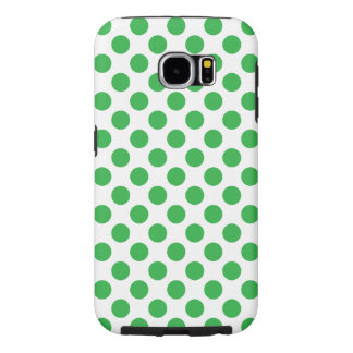 Green Polka Dots Samsung Galaxy S6 Cases