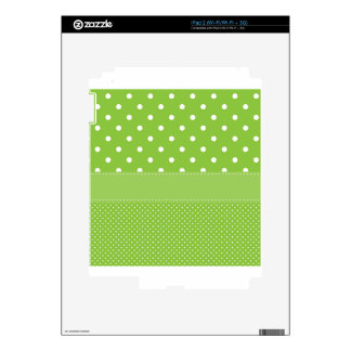 Green Polka-dots Skins For iPad 2