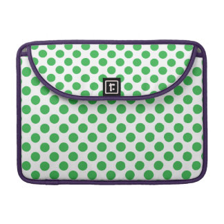 Green Polka Dots Sleeve For MacBooks
