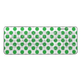 Green Polka Dots Wireless Keyboard