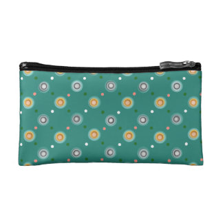 Green Polka Dotted Pattern Cosmetic Bag