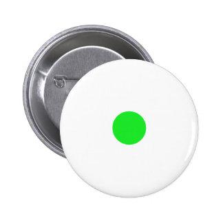 Green Polkadots Small Button