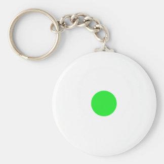 Green Polkadots Small Key Chain