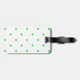 Green Polkadots Small Travel Bag Tag
