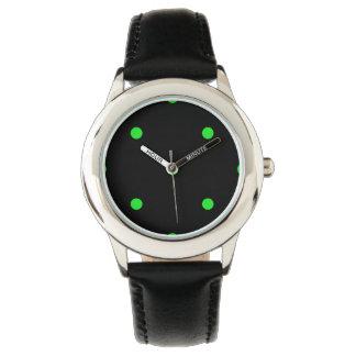 Green Polkadots Small Wristwatch